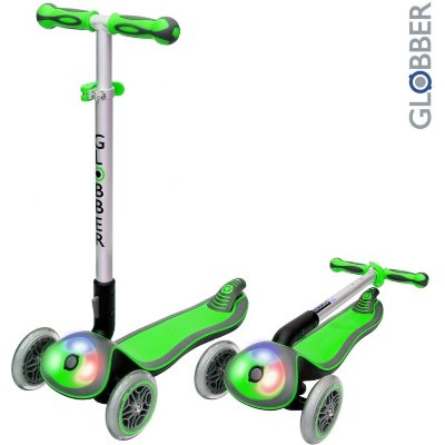 448-106 Самокат Globber Elite F My Free Fold up со светящейся платформой Green