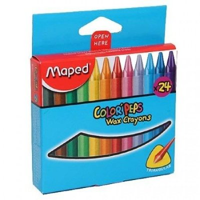 Maped Мелки восковые MAPED COLOR'PEPS WAX 24 цв. треуг.форма, карт.упак 861013