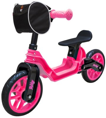 ОР503 Беговел Hobby bike Magestic pink black ***МСК