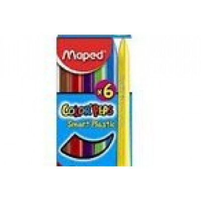Maped Мелки пластиковые MAPED COLOR'PEPS 6 цв. карт.упак 862010