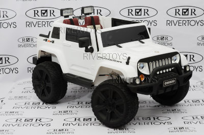 Электромобиль RiverToys Jeep O999OO-4*4-WHITE