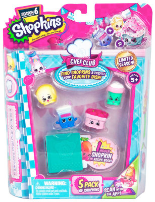 Moose Shopkins 5 штук в блистере