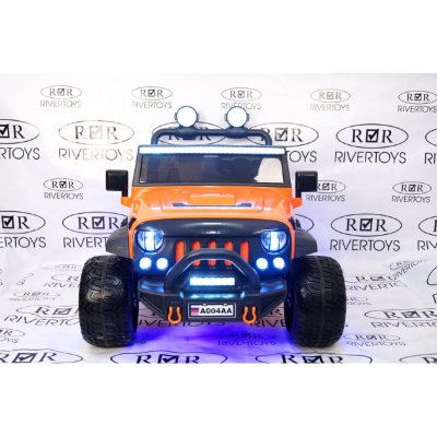 Электромобиль RiverToys Jeep A004AA-ORANGE