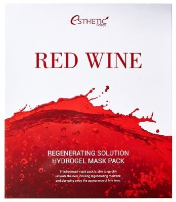 ESTHETIC HOUSE Regenerating Solution Hydrogel Mask Red Wine – Гидрогелевая маска для лица с экстрактом красного вина, 30 гр.