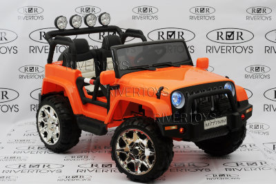 Электромобиль RiverToys Jeep M777MM-ORANGE-4*4