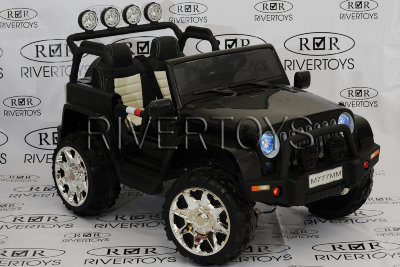 Электромобиль RiverToys Jeep M777MM-BLACK-4*4