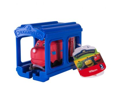 Chuggington набор паровозик Уилсон с гаражом