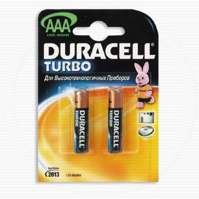 Duracell Батарейка LR-03 (ААА) DURACELL Turbo, блистер