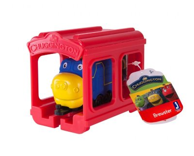 Chuggington набор паровозик Брюстер с гаражом