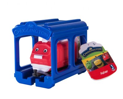Chuggington набор паровозик Ашер с гаражом