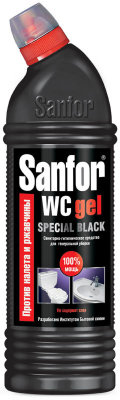 "Средство для туалета Sanfor WC ""Special Black"", гель, 750мл"